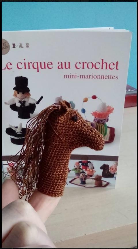 Cheval : Marionnette de doigt