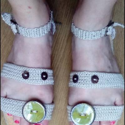 Sandales au crochet