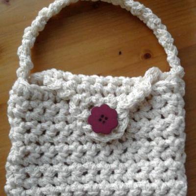 Petit sac crochet N°12 avec tricotin