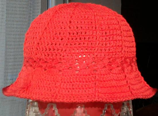 Chapeau coton framboise 4 ans