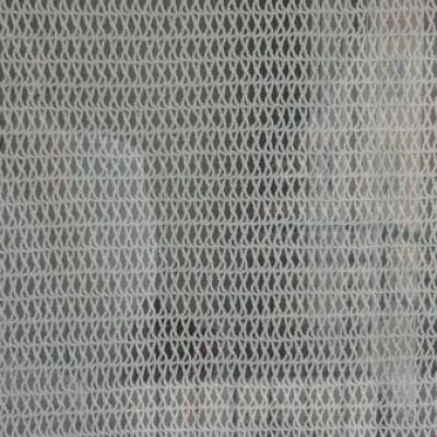 Rideau blanc au crochet (de l'extérieur)
