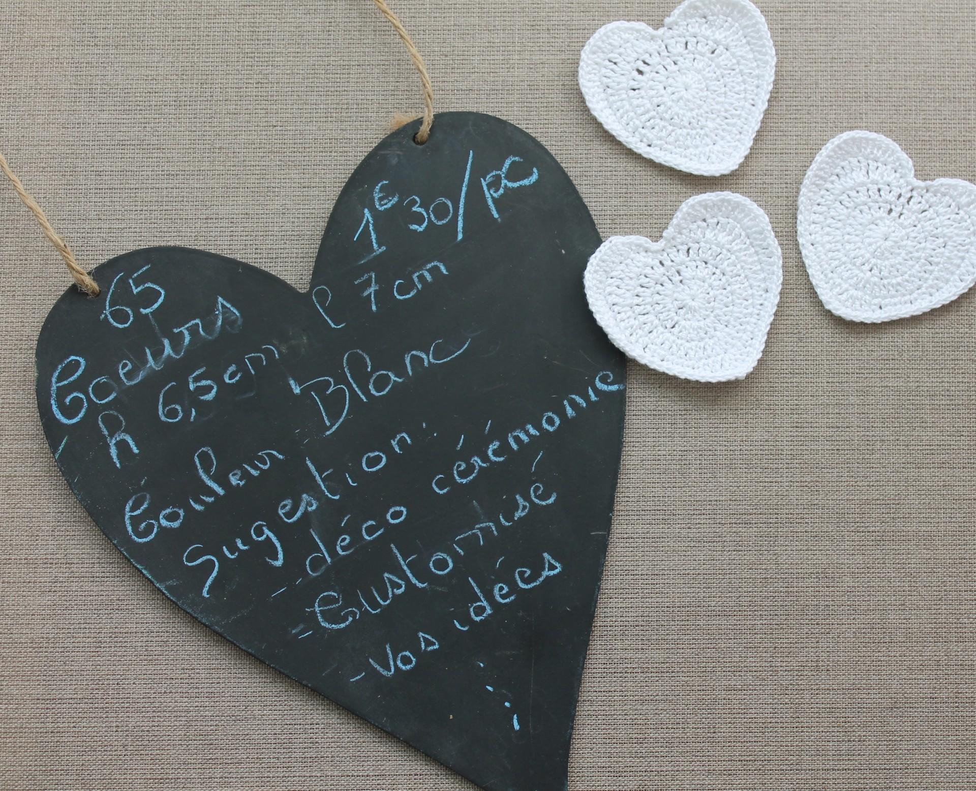 Coeurs blancs 65 pièces