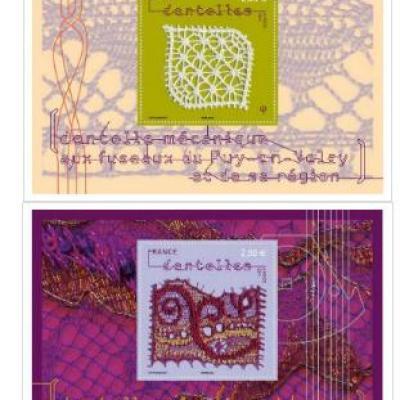 timbre avec dentelle